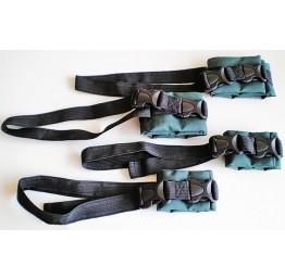Комплект ремней для фиксации конечностей с фастексами для рук, ног, туловища, груди